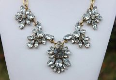 Crystal Chandelier Wild Flower Statement Necklace
