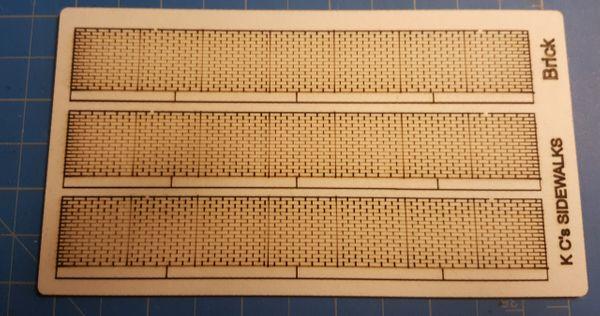 HO Scale Brick Sidewalks