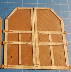 O Scale Engine House Doors Style 2