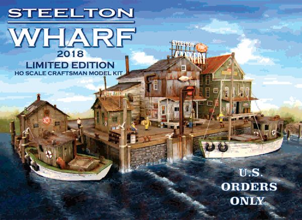 Steelton Wharf Limited Edition Cameron Street Series HO Scale Kit U.S. Only a Few Remain !