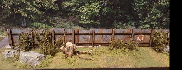 Fence and Sidewalk KIt HO Scale