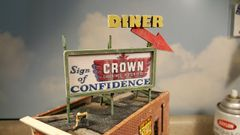 HO Scale Billboard Kit #1 Diner