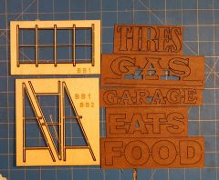 HO Scale Billboard Kit #3 Cut Out