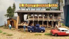 Lumber Yard Built Up HO Scale