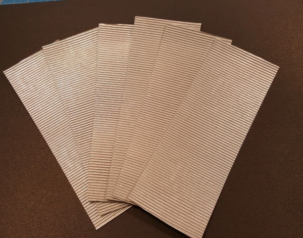 Corrugated Material Roofing/Siding O Scale Metalic