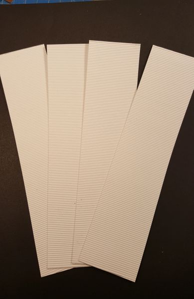 Corrugated Material Roofing/Siding O Scale White