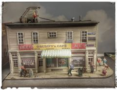 By Request ! F&SM Tribute Grumpy's Cafe HO Scale