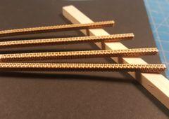 HO Scale Laser Scribed Brick Building Pier