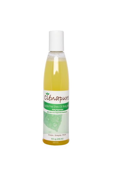 Clenapure Peppermint Sulfate Free Body Wash