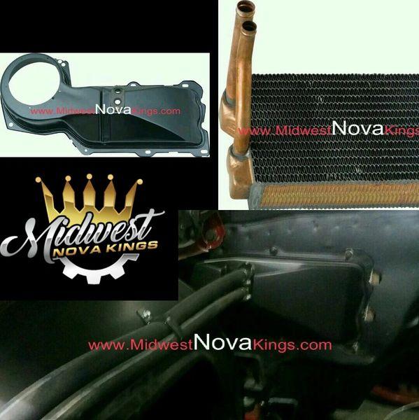 1967 - 1969 Camaro / 1968 - 1979 Nova Heater core copper Small block to Big block Conversion kit