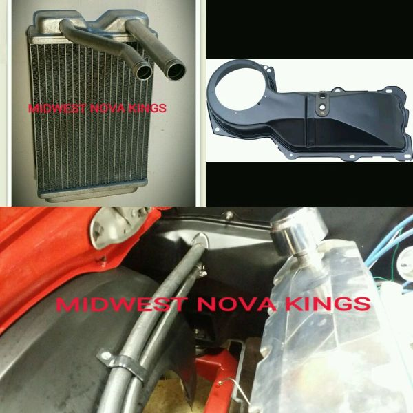 1967 - 1969 Camaro / 1968 - 1979 Nova Heater core Aluminum Small block to Big block Conversion kit