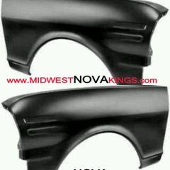 1962 - 1965 Chevy II / Nova front fenders. Pair