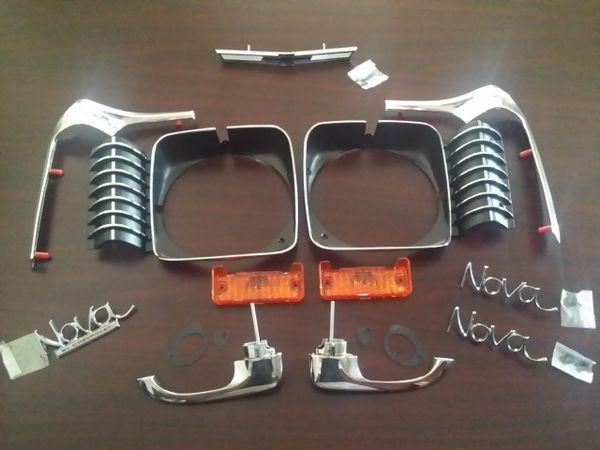 1969 Nova Emblem kit w/ Door handles