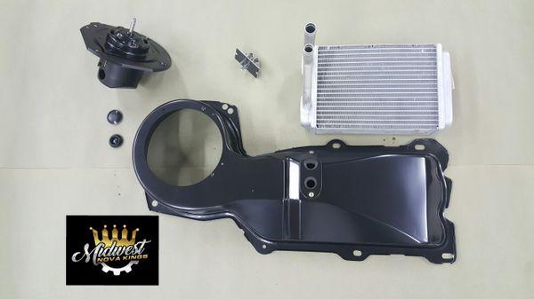 1967 - 1969 Camaro / 1968 - 1979 Nova Heater core ALUMINUM big block kit w/Blower motor and resister