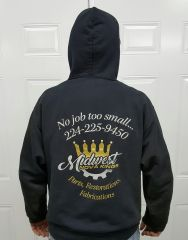 Sweat shirts hoodie, Midwest Nova Kings, X-Large