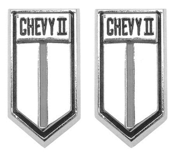 1966-1967 Chevy II Door Panel Emblems, New, FREE SHIPPING