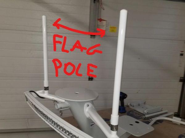 FLAG POLES OR LIGHT POLES PAIR