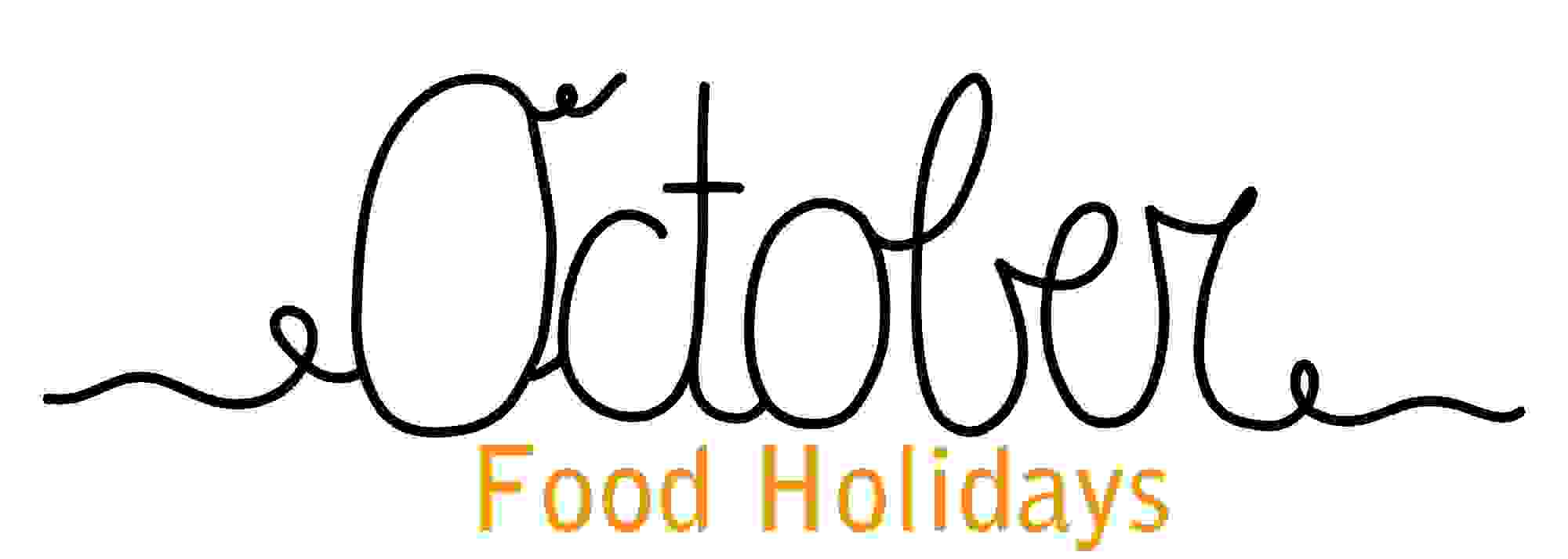 October Food Holidays logo