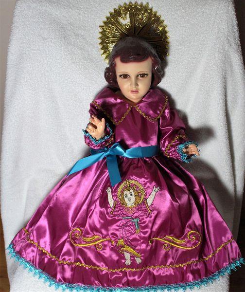 Vestido De Niño Dios Divino Niño Tamaño 20cm
