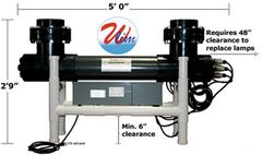 Amalgam Series UVP Sch 80 6-Lamps 300 W Per Lamp 1800 W High Output