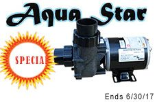 "Aqua Star Pump 1/8 HP OD 2"" Inlet & Outlet"