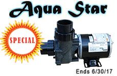 "Aqua Star Pump 1/4 HP OD 2"" Inlet & Outlet"