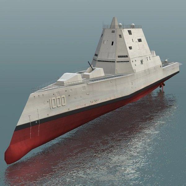 """1:72 100"""" DDG-1000 Guided Missile Destroyer"""