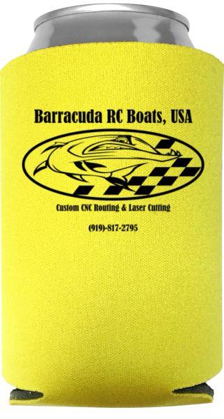 Barracuda RC Boats, USA Koozie (LIMITED EDITION YELLOW)