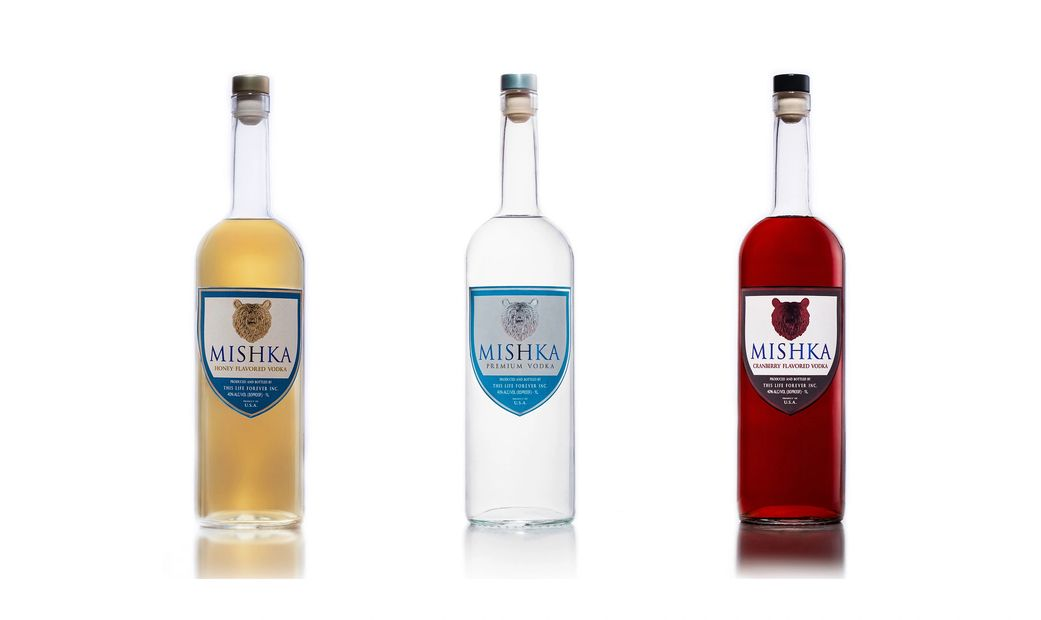 Mishka Premium Vodka Trio, feauting Mishka Premium Vodka, Mishka Honey Vodka and Mishka Cranberry Vo