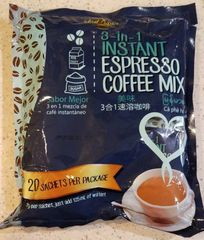 Ideal Tastes 3 in 1 Instant Espresso Coffee Mix 6 Bags