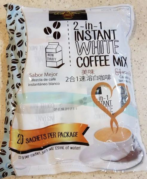 Ideal Tastes 3 in 1 Instant White Coffee Mix 6 Bags