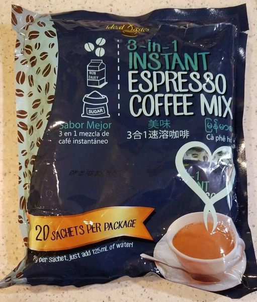 Ideal Tastes 3 in 1 Instant Espresso Coffee Mix 4 Bags