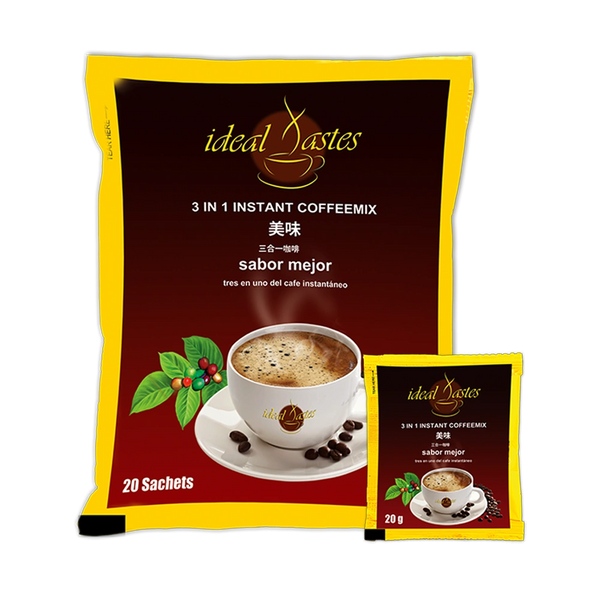 Ideal Tastes 3 in 1 Instant Coffee Mix 6 Bags