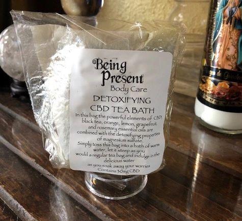 Detoxifying CBD Tea Bath