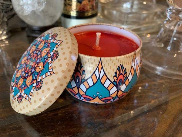 Blood Orange Mandala Candle