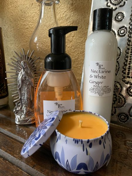 Nectarine & White Ginger Gift Set w/ 8oz lotion