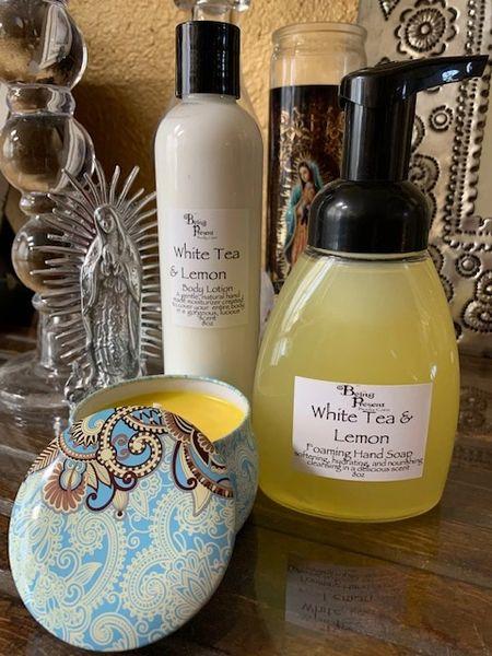 White Tea & Lemon Gift Set w/ 8oz lotion