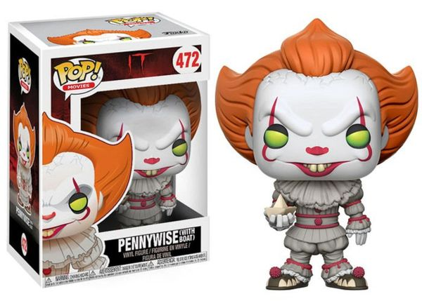 POP! MOVIES: IT - PENNYWISE (WITH BOAT) #472