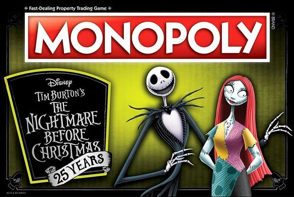 Monopoly: The Nightmare Before Christmas 25th Anniversary Edition Board Game