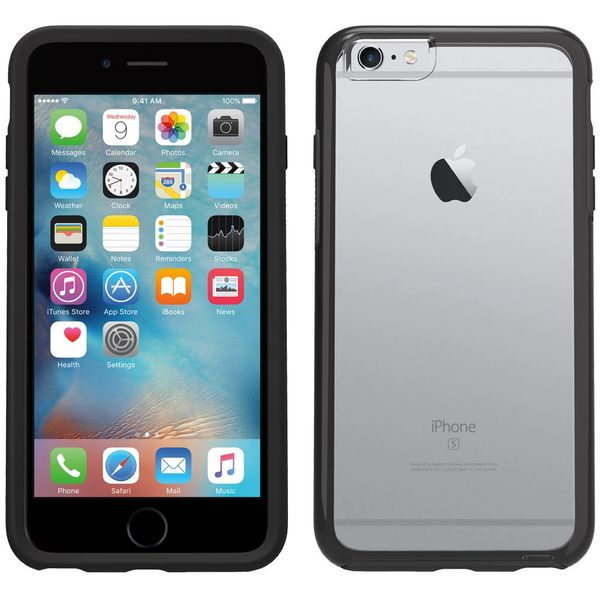 iPhone 6+/6s+ OTTER BOX Case - Commuter Series - Clear Black
