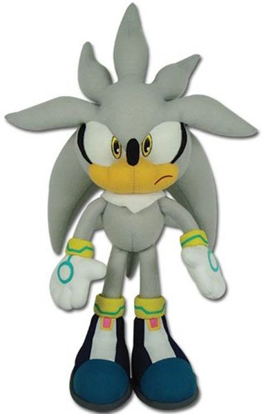 """Sonic the Hedgehog - Silver Sonic 12"""" Plush Character OFFICIAL GE"""