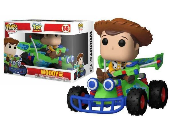 FUNKO POP! RIDES: TOY STORY - WOODY WITH RC #56 NEW