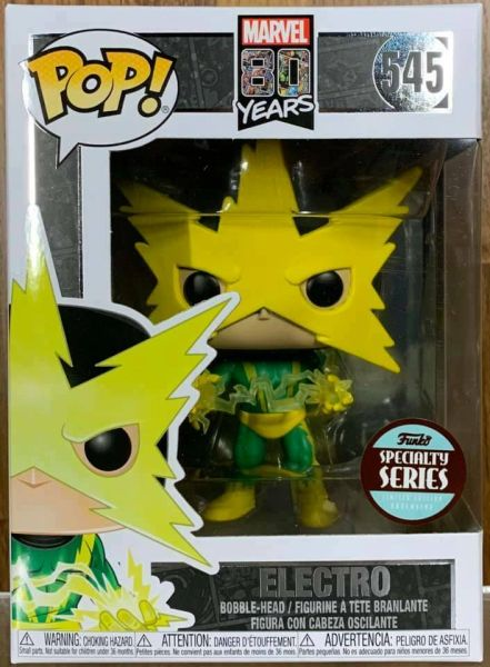FUNKO POP! MARVEL 80 YEARS: FIRST APPEARANCE THE AMAZING SPIDER-MAN ELECTRO SPECIALTY SERIES #545
