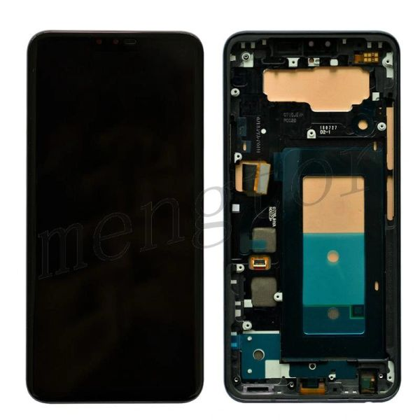 OLED Screen Display with Digitizer Touch Panel and Frame for LG V40 ThinQ V405(Black Frame)