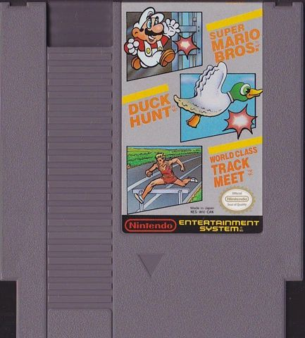 SUPER MARIO BROS. / DUCK HUNT / WORLD CLASS TRACK MEET NES