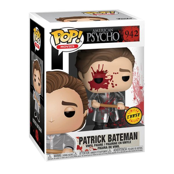FUNKO POP! MOVIES: AMERICAN PSYCHO - PATRICK BATEMAN WITH AXE CHASE #942