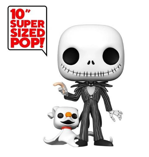 FUNKO 10 INCH SUPER SIZED POP! NIGHTMARE BEFORE CHRISTMAS - JACK WITH ZERO