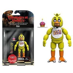 FNAF Five Nights At Freddy's Collectible Articulated Chica Figure w/ Mr.Cupcake