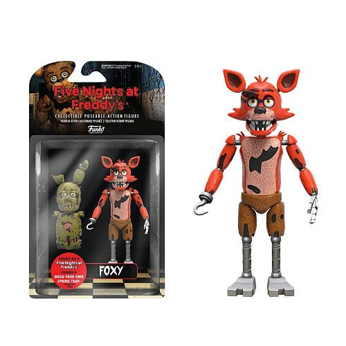 FNAF Five Nights At Freddy's Collectible Articulated Foxy Action Figure