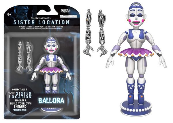 FNAF Sister Location BALLORA Articulated Collectible Vinyl Figure